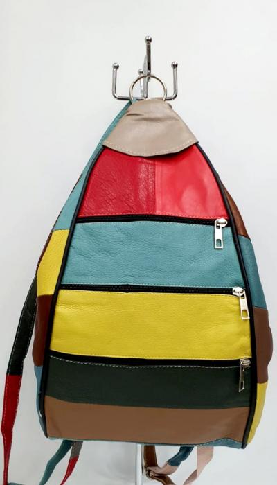 Rucsac Dama Piele Naturala Multicolor Seana G00963 [0]