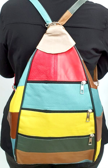 Rucsac Dama Piele Naturala Multicolor Seana G00963 [6]