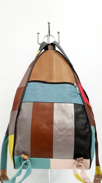 Rucsac Dama Piele Naturala Multicolor Seana G00964 [3]