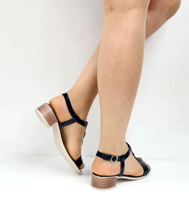 Sandale Dama Piele Naturala Bleumarin Prego Isabella D02751 [5]