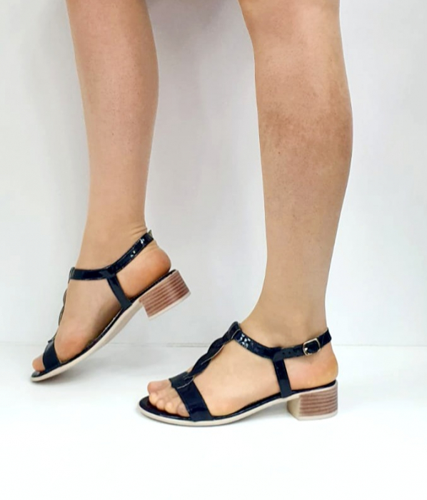 Sandale Dama Piele Naturala Bleumarin Prego Isabella D02751 [2]