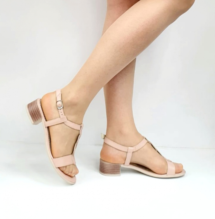 Sandale Dama Piele Naturala Nude Prego Isabella D02752 [0]
