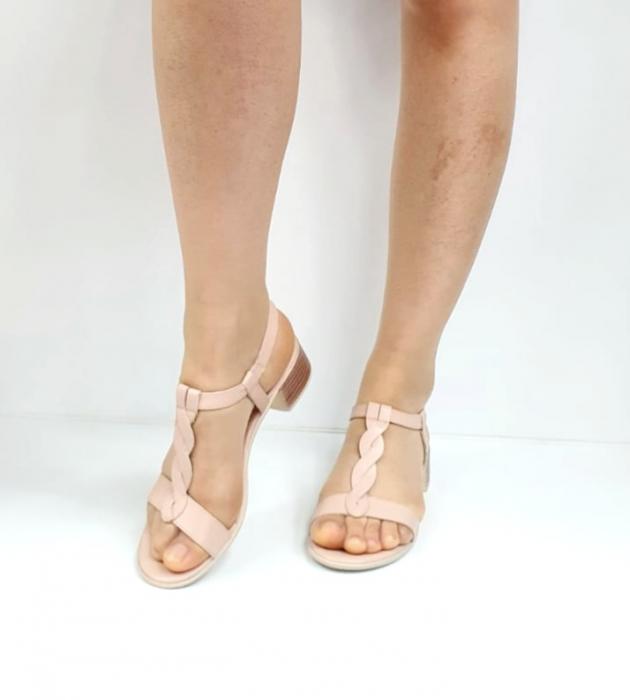Sandale Dama Piele Naturala Nude Prego Isabella D02752 [4]