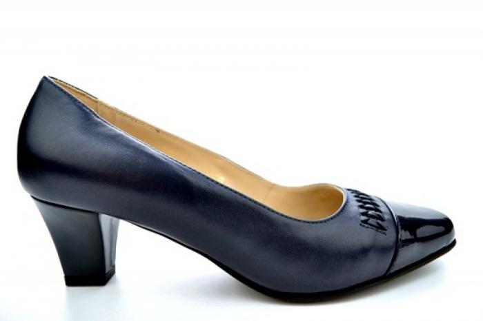 Pantofi cu toc Piele Naturala Bleumarin Guban Miriam D01121 0