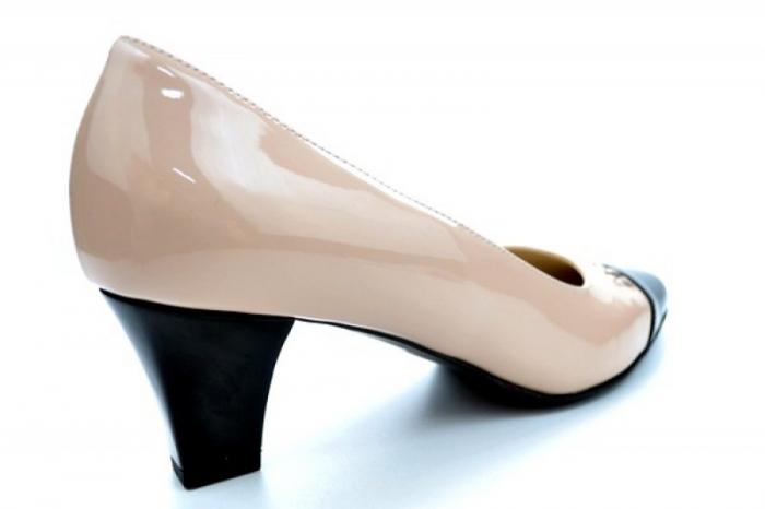 Pantofi cu toc Piele Naturala Nude Guban Miriam D01122 2