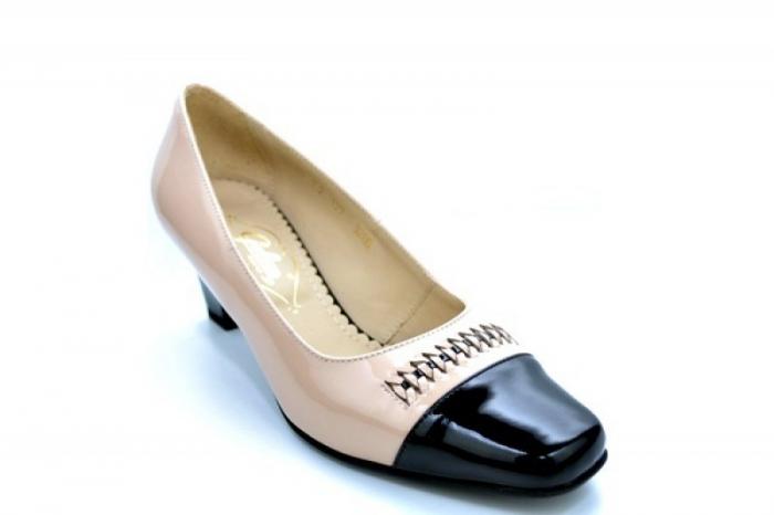 Pantofi cu toc Piele Naturala Nude Guban Miriam D01122 4