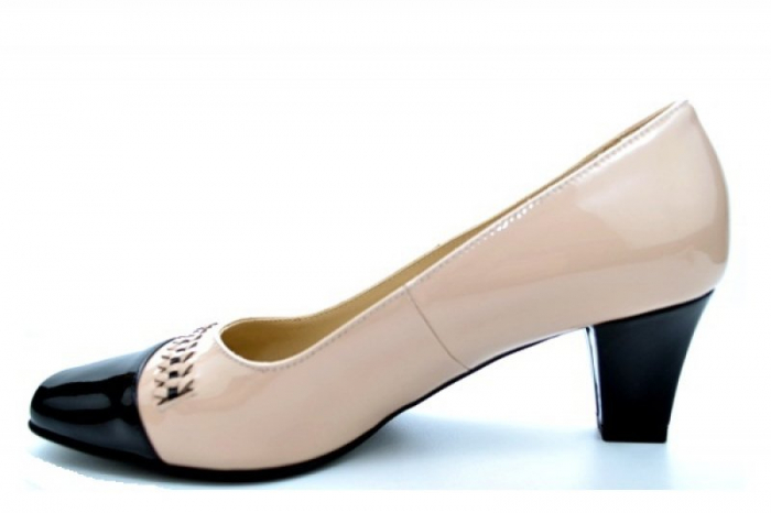 Pantofi cu toc Piele Naturala Nude Guban Miriam D01122 1
