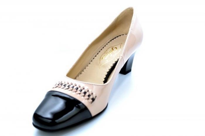 Pantofi cu toc Piele Naturala Nude Guban Miriam D01122 3