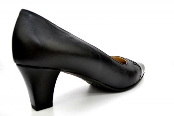 Pantofi cu toc Piele Naturala Negri Guban Miriam D01123 2