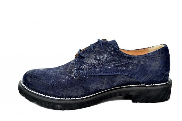 Pantofi Oxford Piele Naturala Bleumarin Orana D01742 1