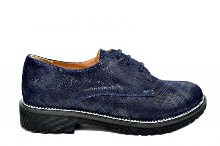 Pantofi Oxford Piele Naturala Bleumarin Orana D01742 0