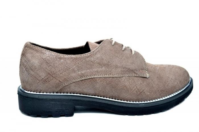 Pantofi Oxford Piele Naturala Caffee Orana D01745 0