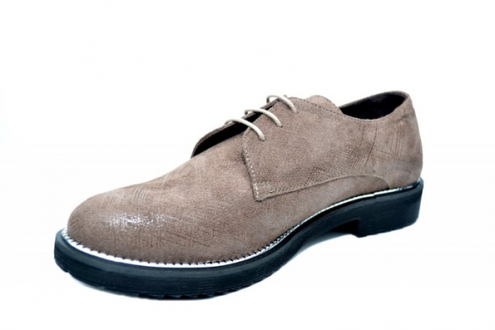Pantofi Oxford Piele Naturala Caffee Orana D01745 2