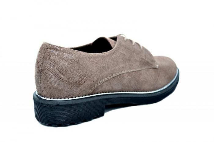 Pantofi Oxford Piele Naturala Caffee Orana D01745 3