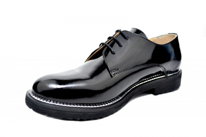 Pantofi Oxford Piele Naturala Negri Orana D01746 2