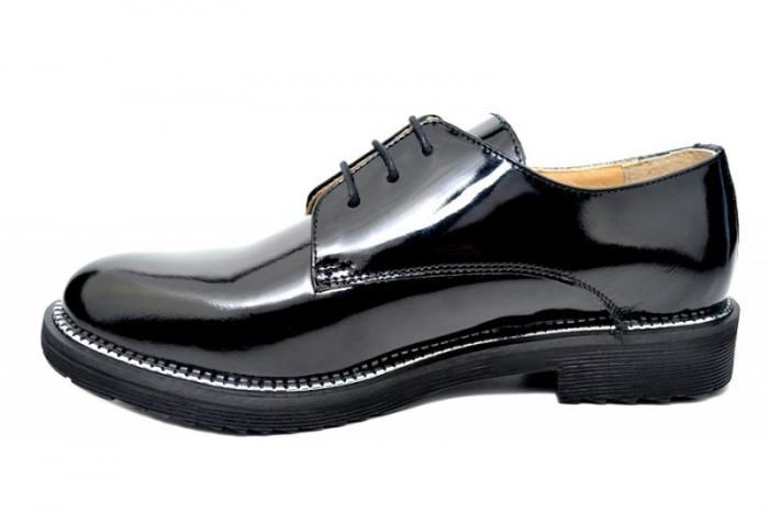 Pantofi Oxford Piele Naturala Negri Orana D01746 1