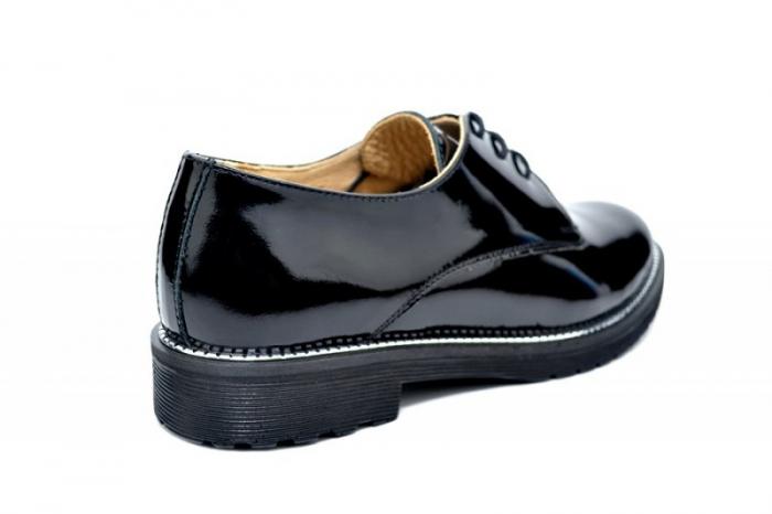 Pantofi Oxford Piele Naturala Negri Orana D01746 3