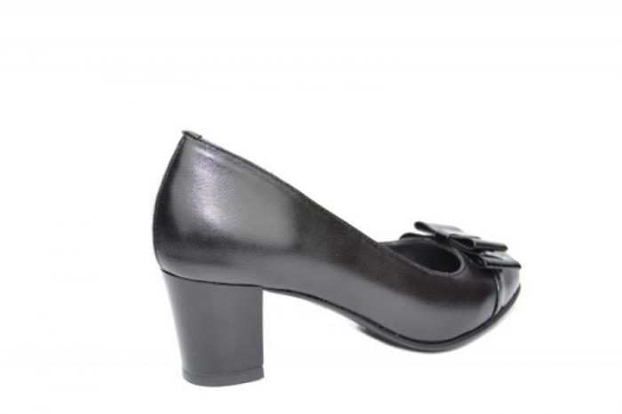 Pantofi cu toc Piele Naturala Negri Moda Prosper Abel D01912 3