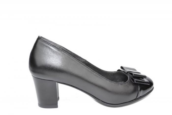Pantofi cu toc Piele Naturala Negri Moda Prosper Abel D01912 0