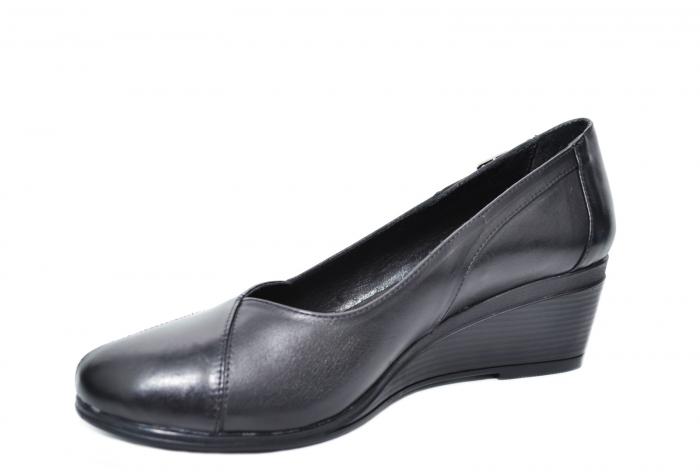 Pantofi Casual Piele Naturala Negri Abena D02085 1