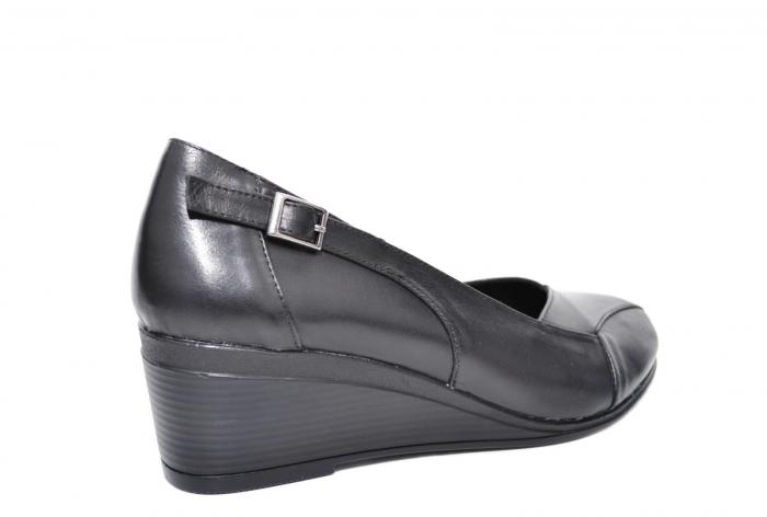 Pantofi Casual Piele Naturala Negri Abena D02085 2