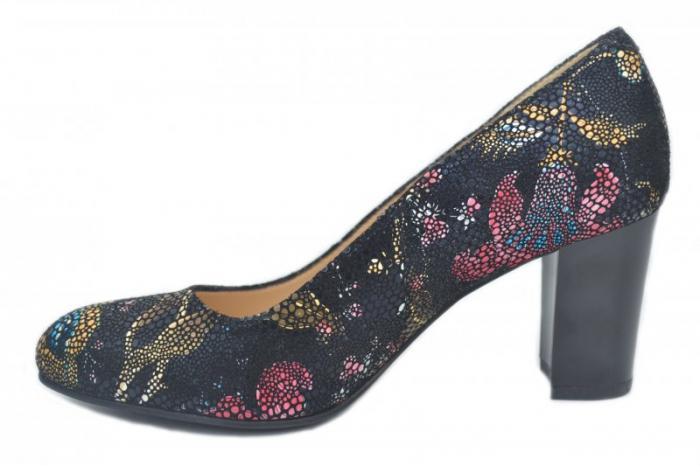 Pantofi cu toc Piele Naturala Bleumarin Corvaris Ada D01628 1