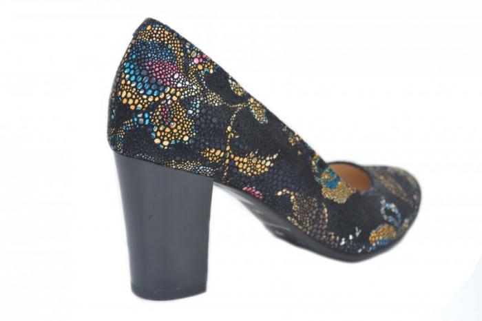 Pantofi cu toc Piele Naturala Bleumarin Corvaris Ada D01628 3