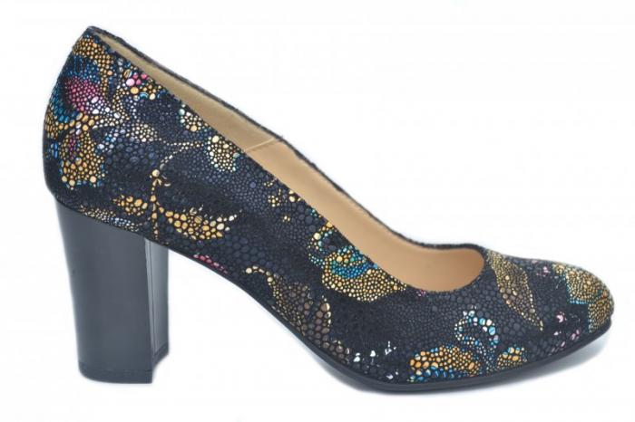 Pantofi cu toc Piele Naturala Bleumarin Corvaris Ada D01628 0