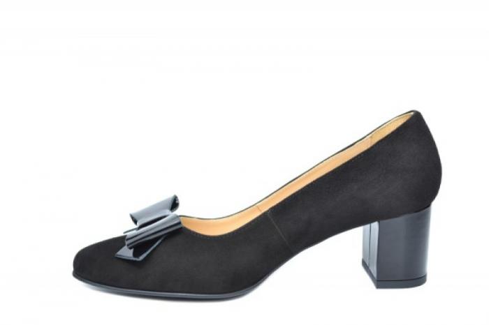 Pantofi cu toc Piele Naturala Negri Adela D01913 1