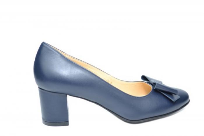 Pantofi cu toc Piele Naturala Negri Adela D01914 0