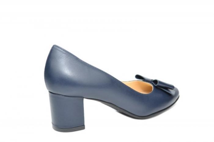 Pantofi cu toc Piele Naturala Negri Adela D01914 3