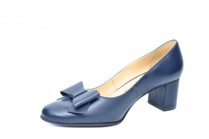 Pantofi cu toc Piele Naturala Negri Adela D01914 2