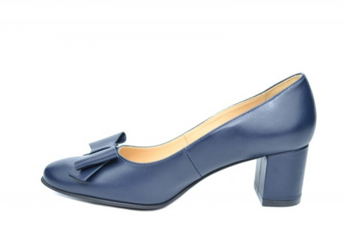 Pantofi cu toc Piele Naturala Negri Adela D01914 1