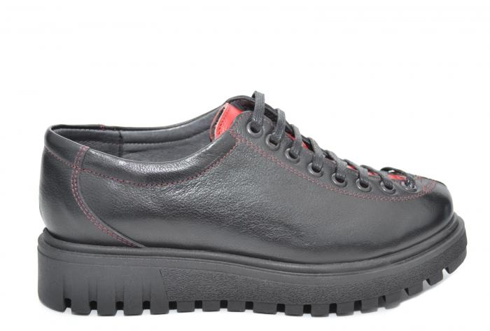 Pantofi Casual Piele Naturala Negri Adelaide D02098 0