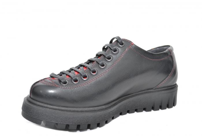 Pantofi Casual Piele Naturala Negri Adelaide D02098 1