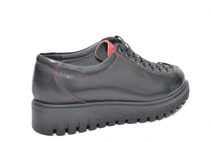 Pantofi Casual Piele Naturala Negri Adelaide D02098 2