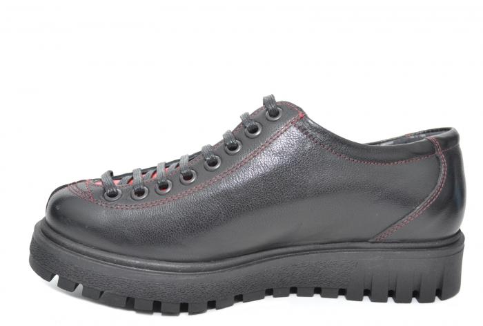 Pantofi Casual Piele Naturala Negri Adelaide D02098 3