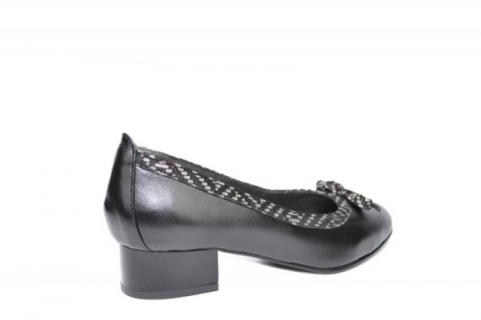 Pantofi cu toc Piele Naturala Negri Moda Prosper Adina D01909 3