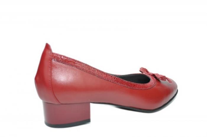 Pantofi cu toc Piele Naturala Grena Moda Prosper Adina D01910 3