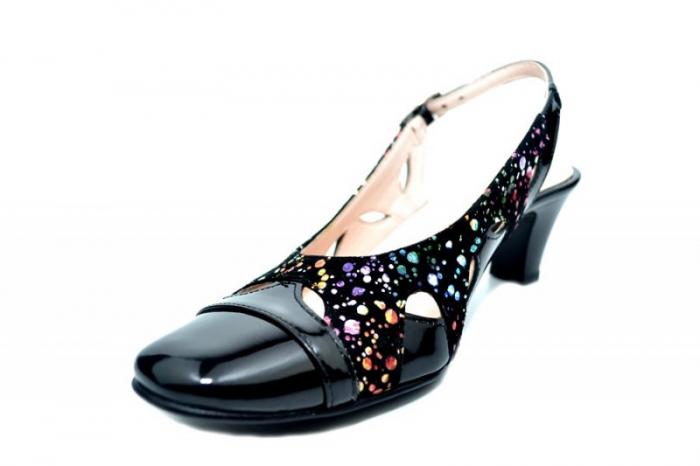 Pantofi Dama Piele Naturala Negri Adrina D01710 2