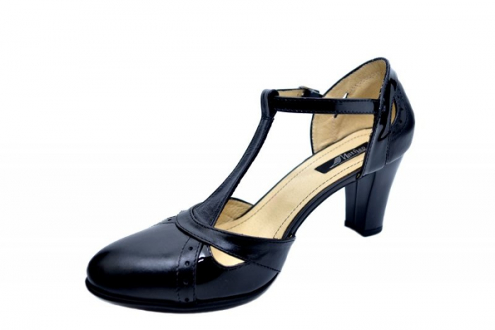 Pantofi Dama Piele Naturala Negri Ailin D01578 2