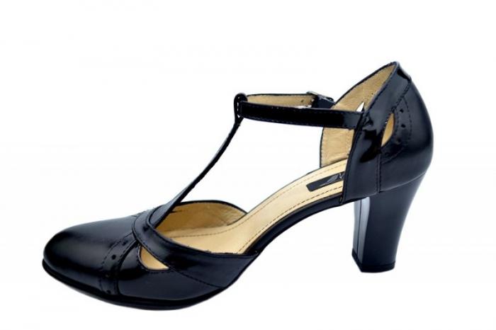 Pantofi Dama Piele Naturala Negri Ailin D01578 1