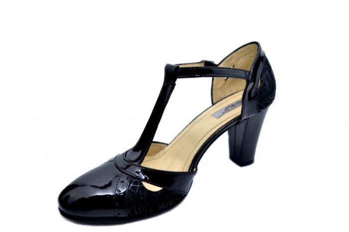Pantofi Dama Piele Naturala Negri Ailin D01599 2