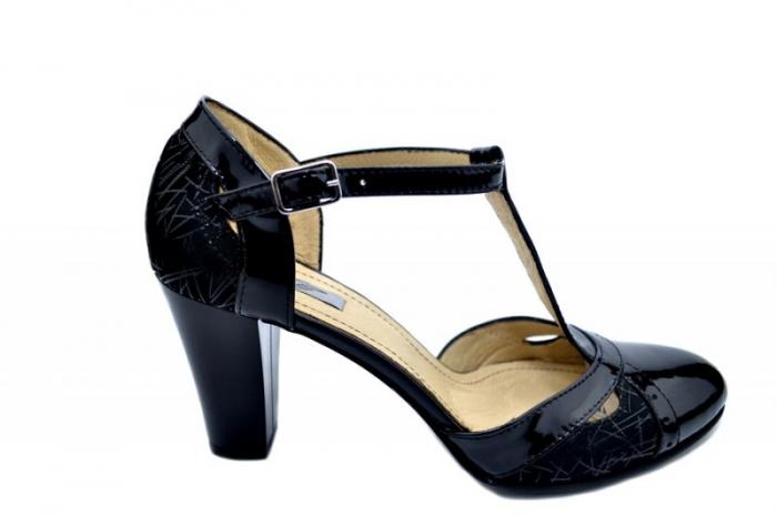 Pantofi Dama Piele Naturala Negri Ailin D01599 0