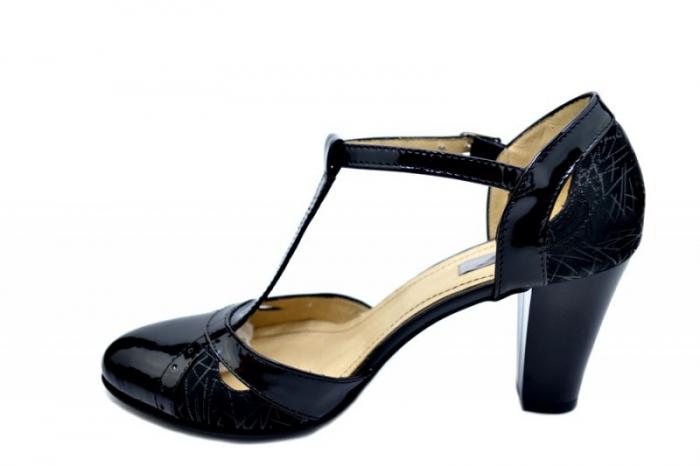 Pantofi Dama Piele Naturala Negri Ailin D01599 1