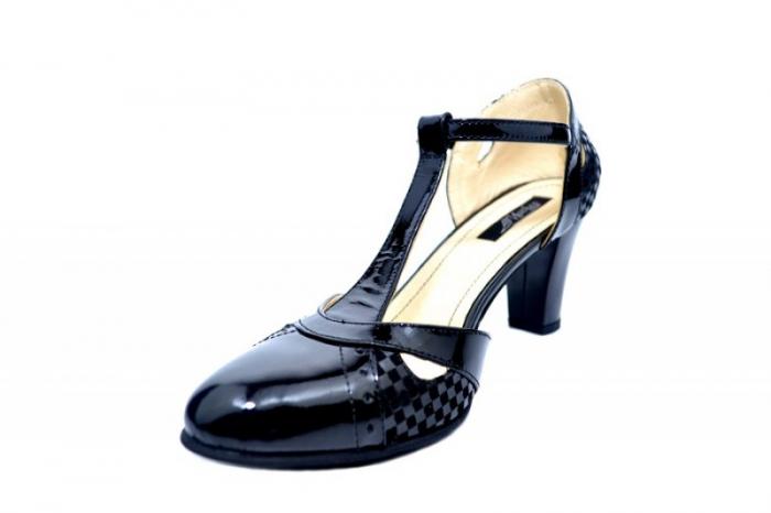 Pantofi Dama Piele Naturala Negri Ailin D01681 2