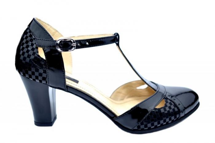 Pantofi Dama Piele Naturala Negri Ailin D01681 0