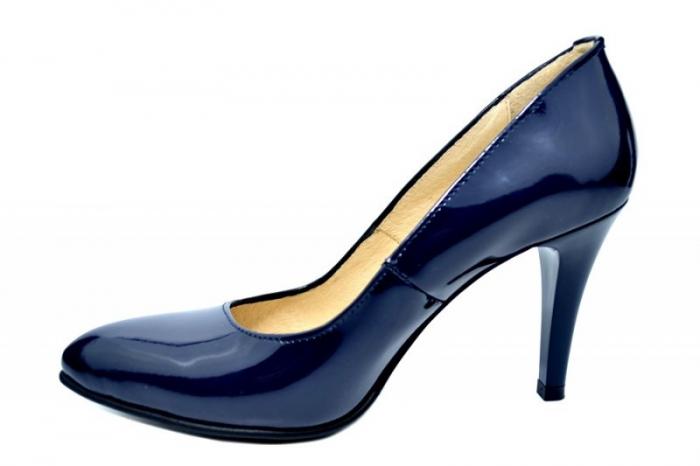 Pantofi cu toc Piele Naturala Bleumarin Alla D01781 1