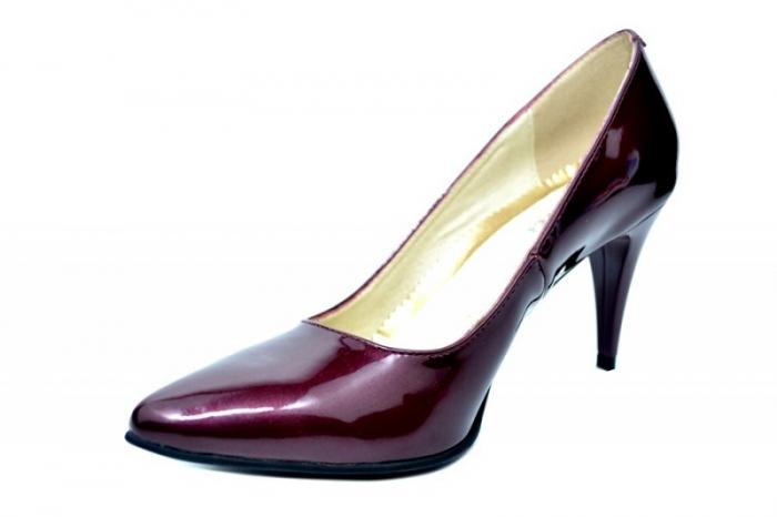 Pantofi cu toc Piele Naturala Mov Alyona D01784 2