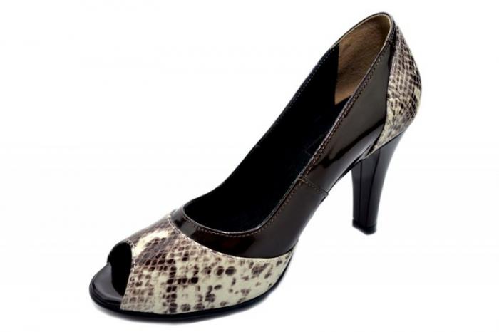 Pantofi Dama Piele Naturala Maro Amata D01323 2
